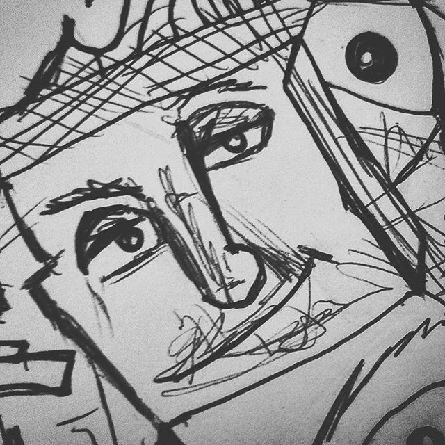#sketchbook #sketching #doodling #doodle #charactersketch #pendrawing #characterdesign #characterdrawing #drawing #expressionism #art #pensketch #instaart #instart #abstractexpressionism #modernart  #sketchbookart #sketch
