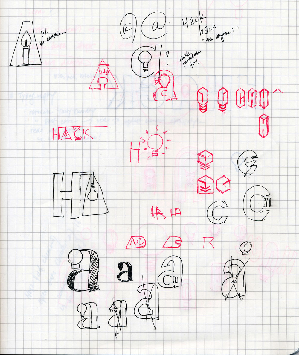 - FIGURE 3. ← This was my first logo design project ever, and one of the things I learned was to always consider lowercase characters; I finally had my light bulb moment with the 'a.' It was also a conceptually sound decision to make the 'a' and 'c,' the initials of Amherst College, lowercase in the logotype to highlight the little league-ness of the small liberal arts school. To maintain visual consistency with campus-related events, purple and white, the school colors, were chosen for the logo.