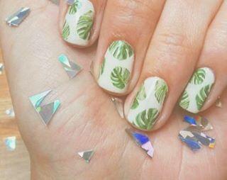 🌴💫🎉🌴#nails #palmtrees #70s #tropical  #inspiration  #bushwick #wildoleander