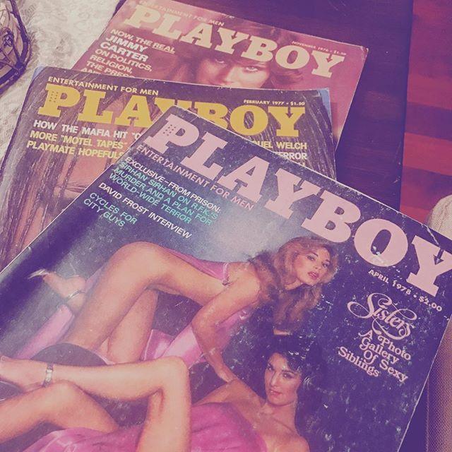 Light reading. 1976-1977  #playboy #vintage #sisters #bushwick #wildoleander