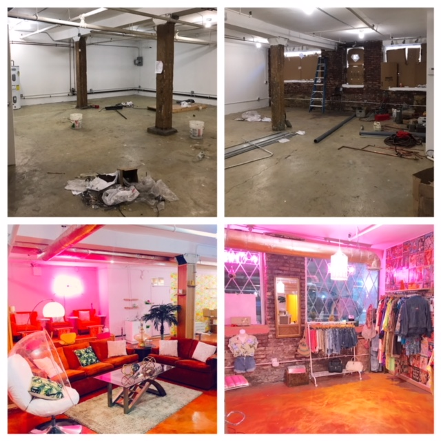 Before and After 5 month renovations.