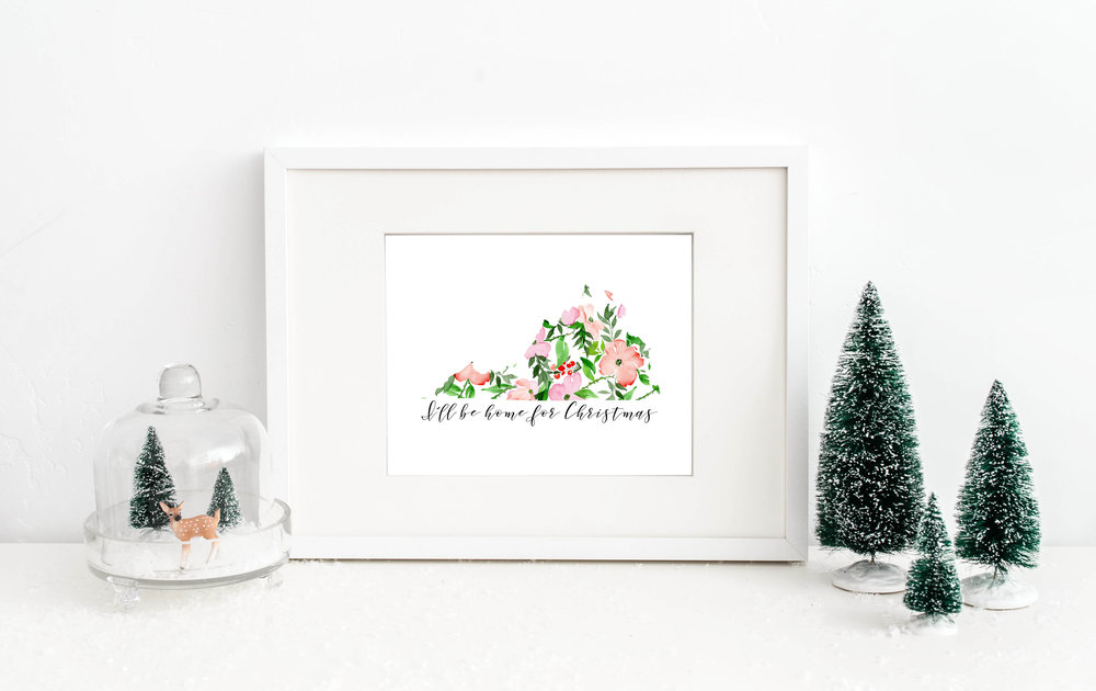 I'll Be Home for Christmas Print