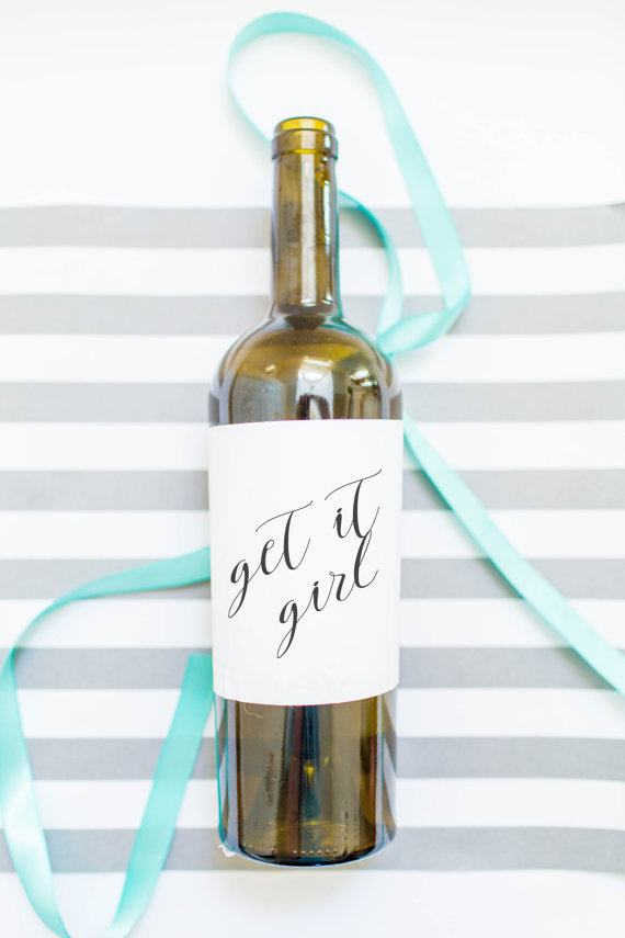 Get it Girl Wine Label
