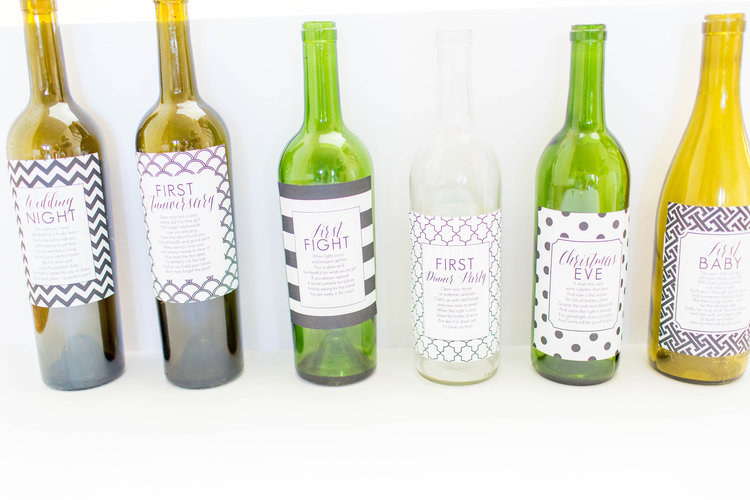 Wedding Firsts Wine Label Set
