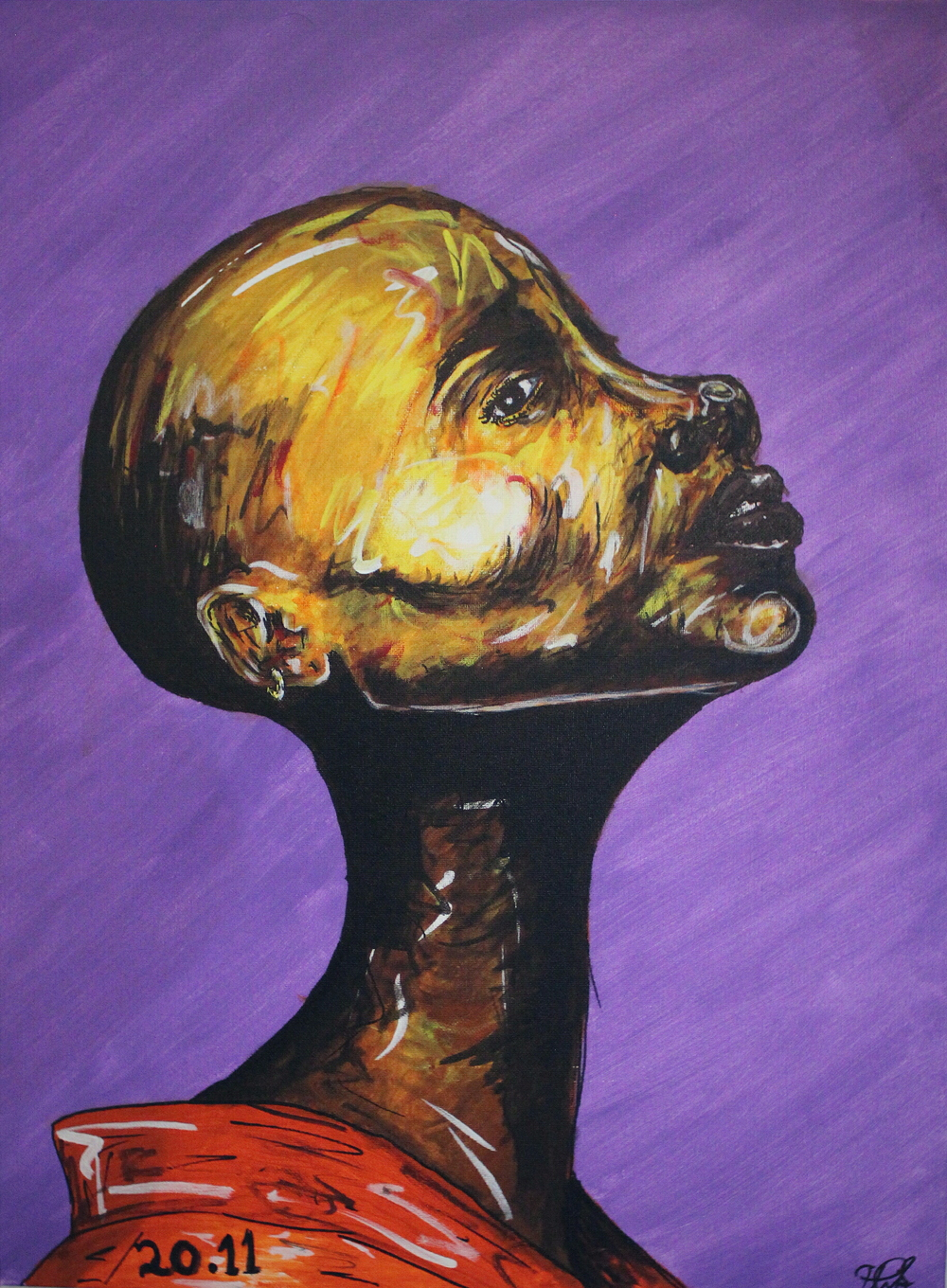 i  vrede.in.pyn : peace in pain  gunna  acrylic on canvas