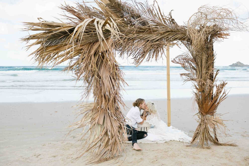 Palm Elopement Styled Shoot