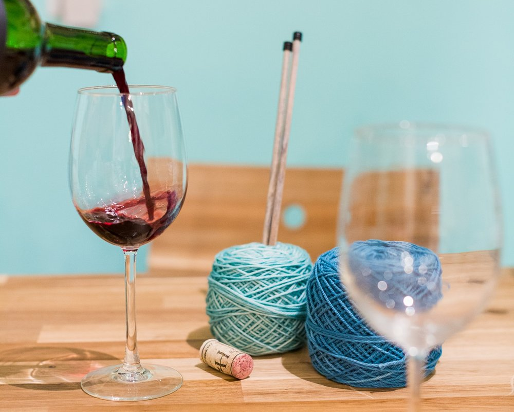 Wine & Knit Night - Fridays from 6pm-8pm