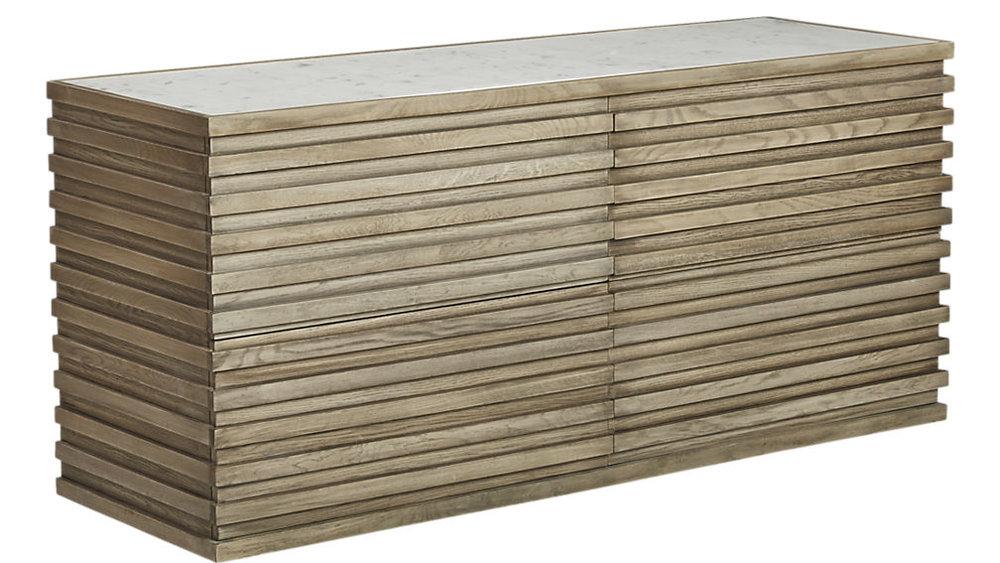 Ryker Low Marble Dresser