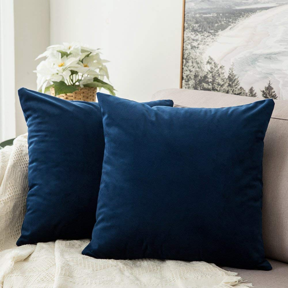 #8. PILLOW COVERS. This is one of the best deals ever for a SET OF 2 velvet pillows with a zipper closure. Tons of colors available too.