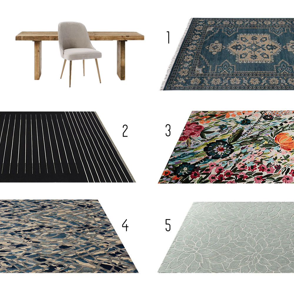 1.  Pottery Barn  2.  CB2  3.  Anthropologie  4.  Rugs Direct  5.  Pier One