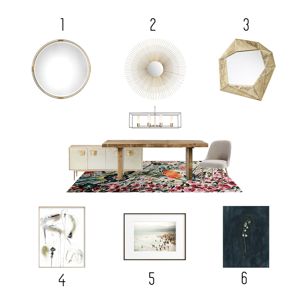 1.  Lamps Plus  2.  Wayfair  3.  Houzz  4.  Minted  5.  Minted  6.  Minted