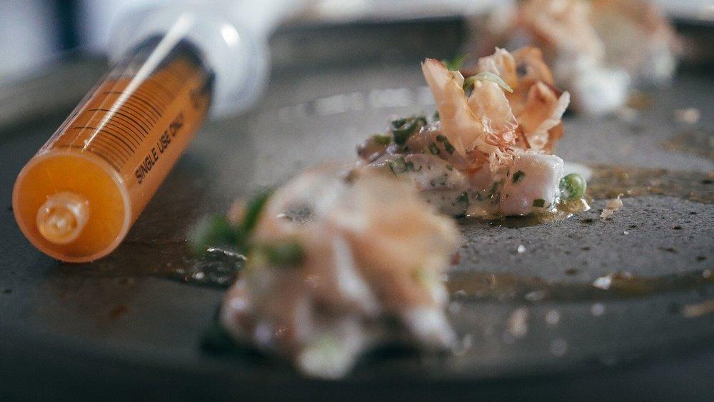Ike-mata Raw Fish salad