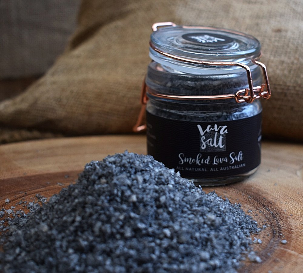 Smoked Lavasalt - Activated charcoal is made of compressed chemical free, naturally occurring fine charcoal powder with numerous health benefits. Great for the gut and has incredible cleansing powers. My salts are naturally infused and smoked to enhance flavour.Smoked Lavasalt is perfect with eggs, steaks and can be used to lift any dish to make it delicious and tasty.Have you tried my salts on a smashed Avocado toast ?Great gift idea.