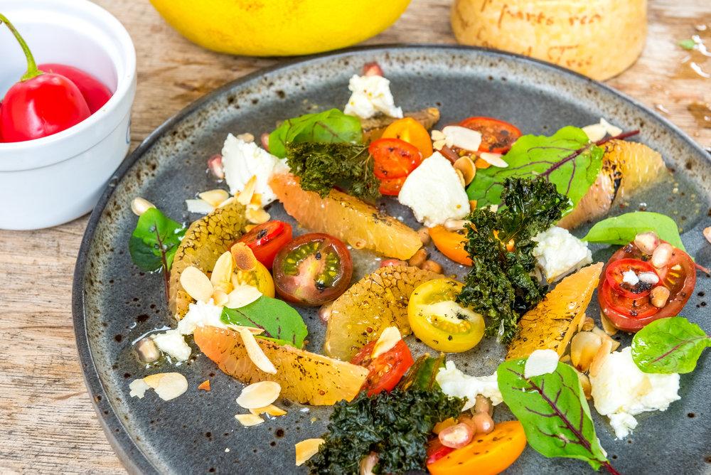 Charred Pomelo Salad - Chef Sebastian Simon
