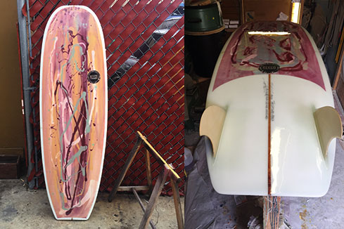 Upcycled Surfboard - Mini Simmons Shape