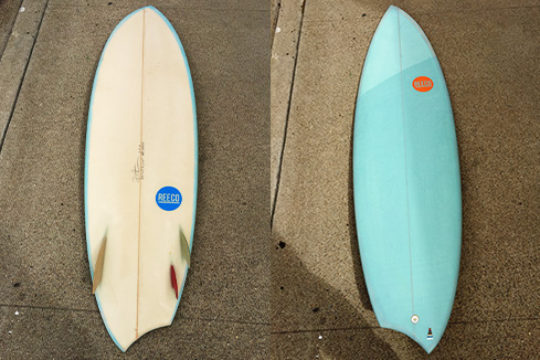 Upcycled Surfboard - Asymmetrical Shape