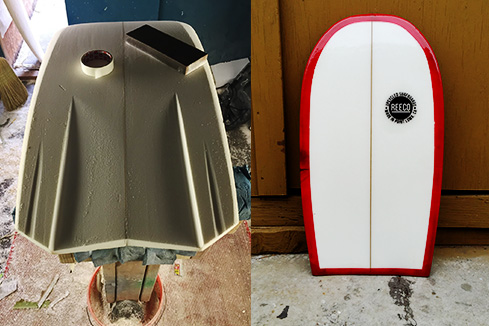 Upcycled Surfboard - Paipo Shape