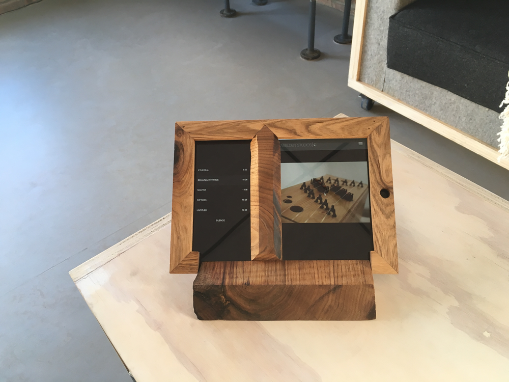 A touch-pad interface allows visitors to trigger custom soundscapes.