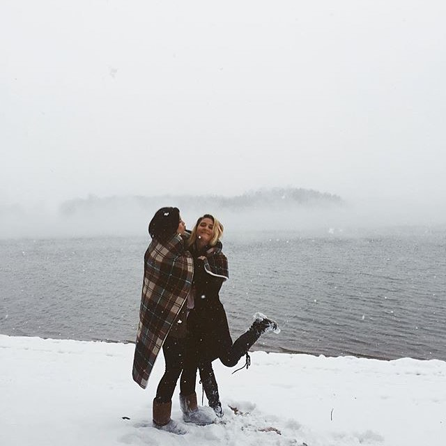 #wintervibes can be joyful + inspiring, especially if ur wrapped in flannel and friends