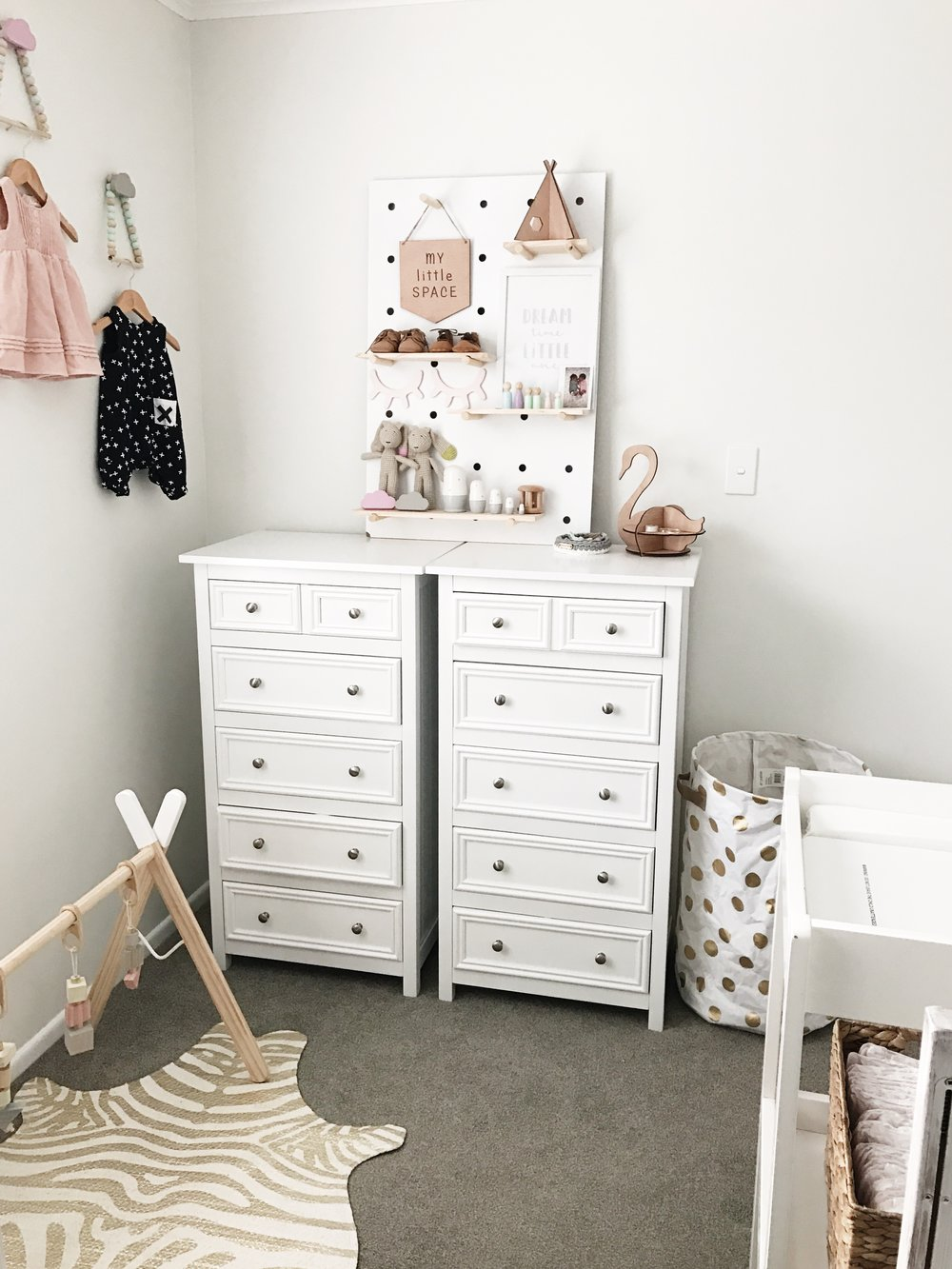 Our Drawers Are From Victors Furniture And Our Change Table Is From Trade  Me, The Framed Dream Catcher Print Is From Farmers. Everything Else You See  In The ...