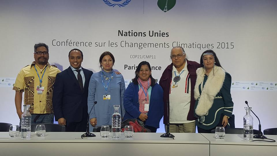 Indigenous Peoples press conference at the Paris Climate Conference