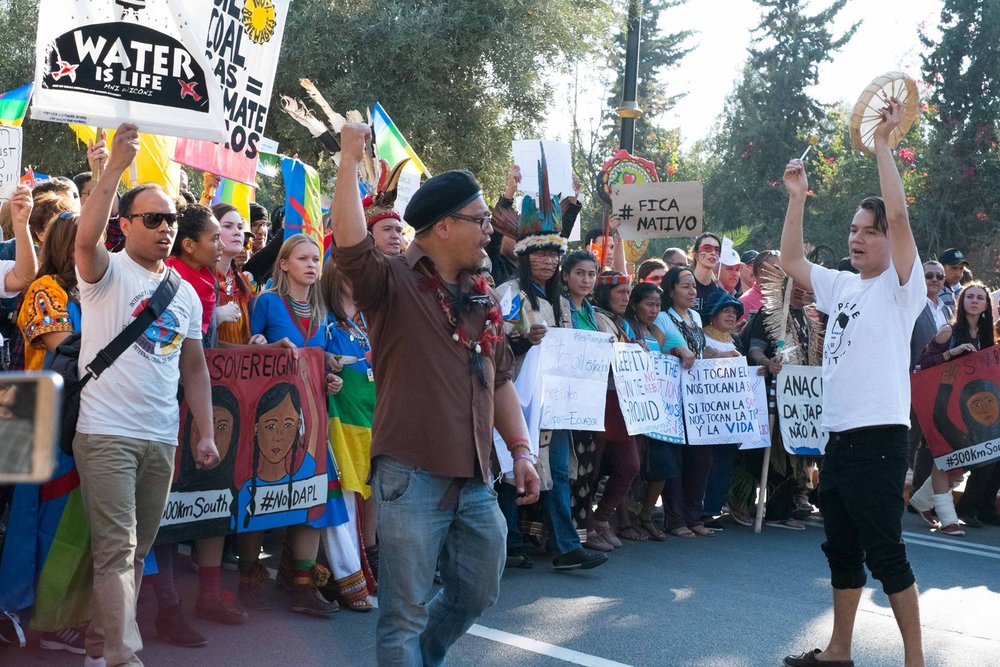 The Indigenous Bloc at the Morocco Climate March 2016