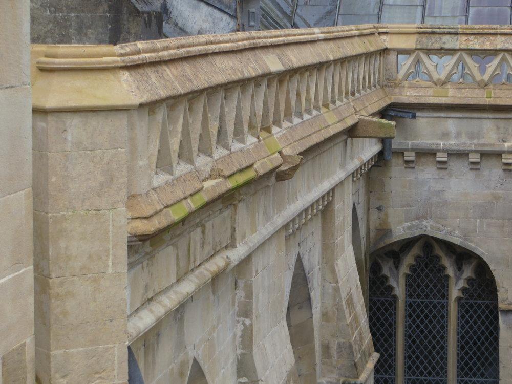 North Quire Aisle Parapets - Stonework Repair