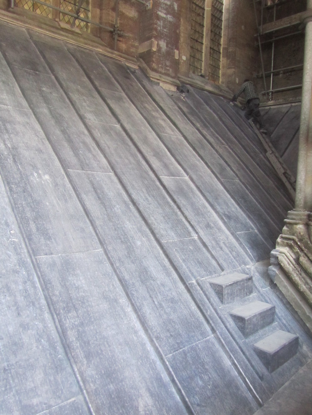 An area of the works on completion showing improved access to the area directly behind the West Front
