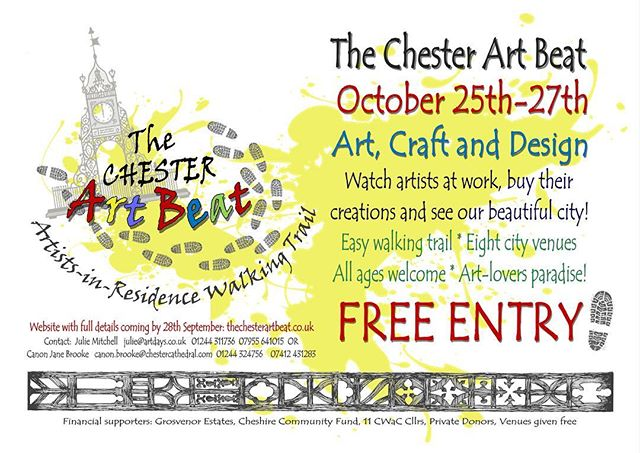 Chester Art Beat is pop-up artists-in-residence walking trail, open to all ages, taking place in Chester between 25th-27th October 2018. Very excited to be the official photographer for this great event! 📷 . . #chester #chesterartbeat #art #beat #city #citylife #cheshire #photography #photographer #artists #sculpture #storyhouse #storyhousechester #chestercathedral #grosvenor #craft #chesterracecourse #exhibition #freeentry #chesterart #design #artistsoninstagram #artofinstagram #artlovers #artistinresidence