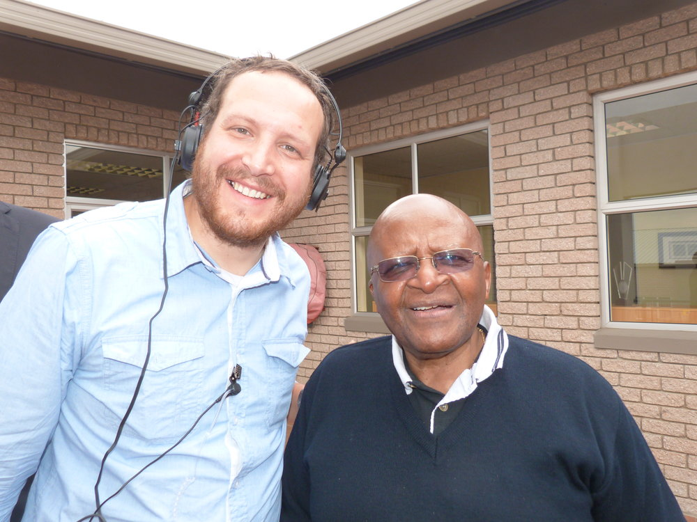 Here I am with Archbishop Tutu in Cape Town.