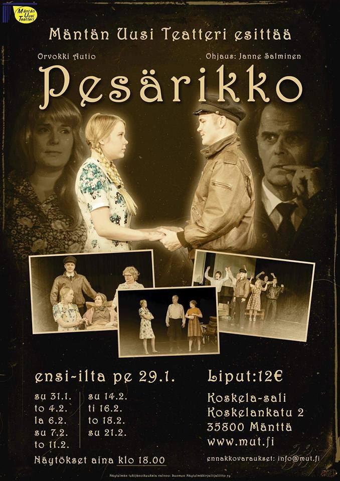 Pesärikko (2016) - Orvokki Aution Pesärikko on vankka kuvaus eteläpohjalaisesta sielunmaisemasta. Perheen, suvun ja yhteisön paine on kuristava. Taustalla on salaisuuksien verkko, josta ei ääneen puhuta.Ohjaus: Janne Salminen