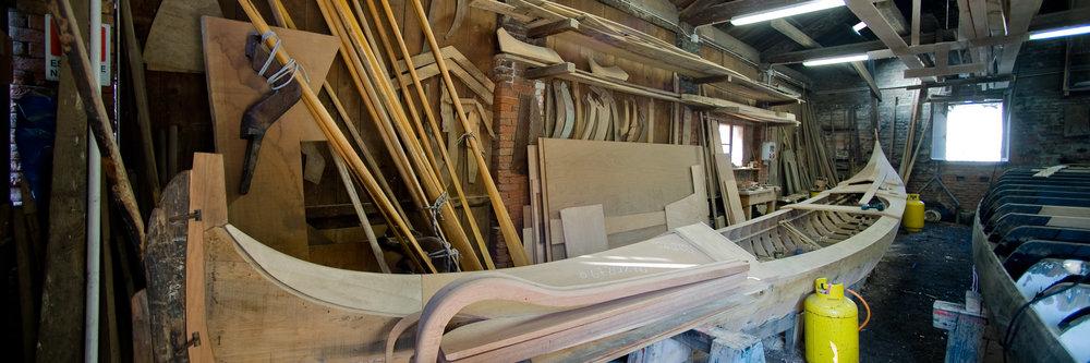L'interno dello squèro di San Trovaso.
