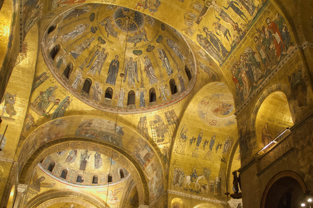 Inside the Basilica of San Marco.