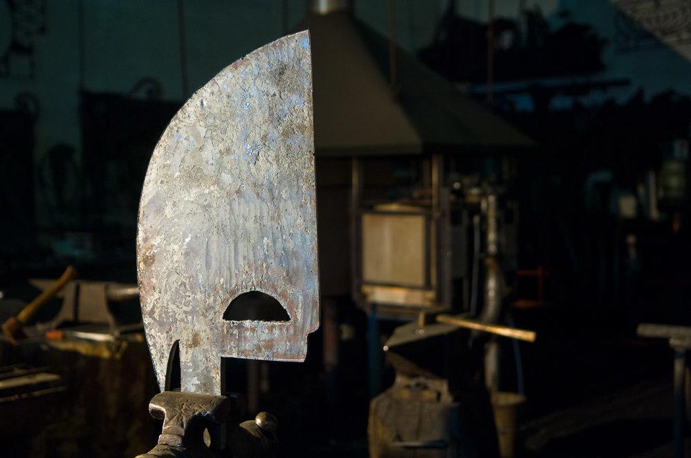 La pièce brut qui deviendra le fer de proue de la gondole