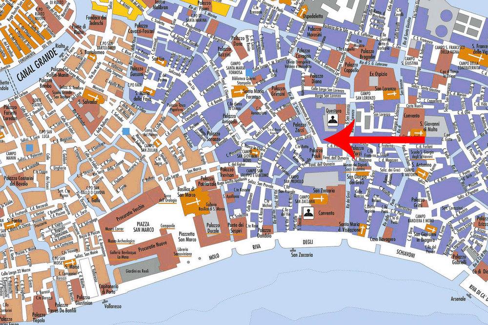 Mappa del ristorante Luna Sentada a Castello