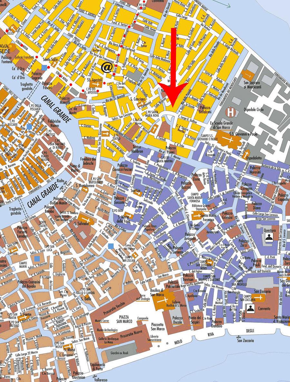 Mappa della Osteria da Alberto, Cannaregio