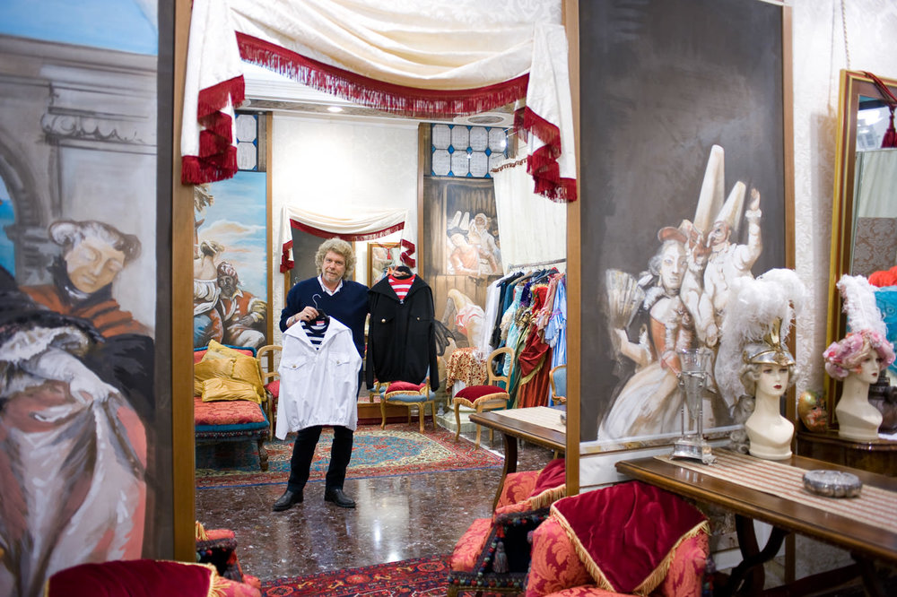 Stefano Nicolao in his beautiful atelier in Venice