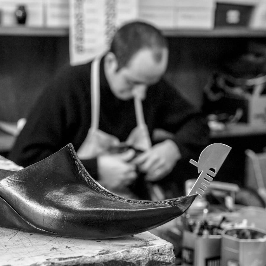 Ein Schuh mit Gondelform