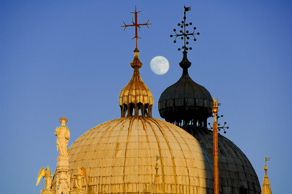 Moonrise on the Basilica of San Marco