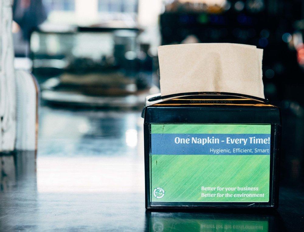 Napkin Dispenser Midnight Black Take it Once.jpg