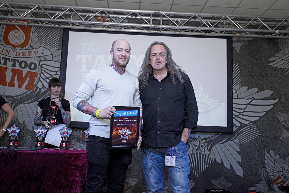 Andrew Burns, Runner Up of Best Neo Traditional