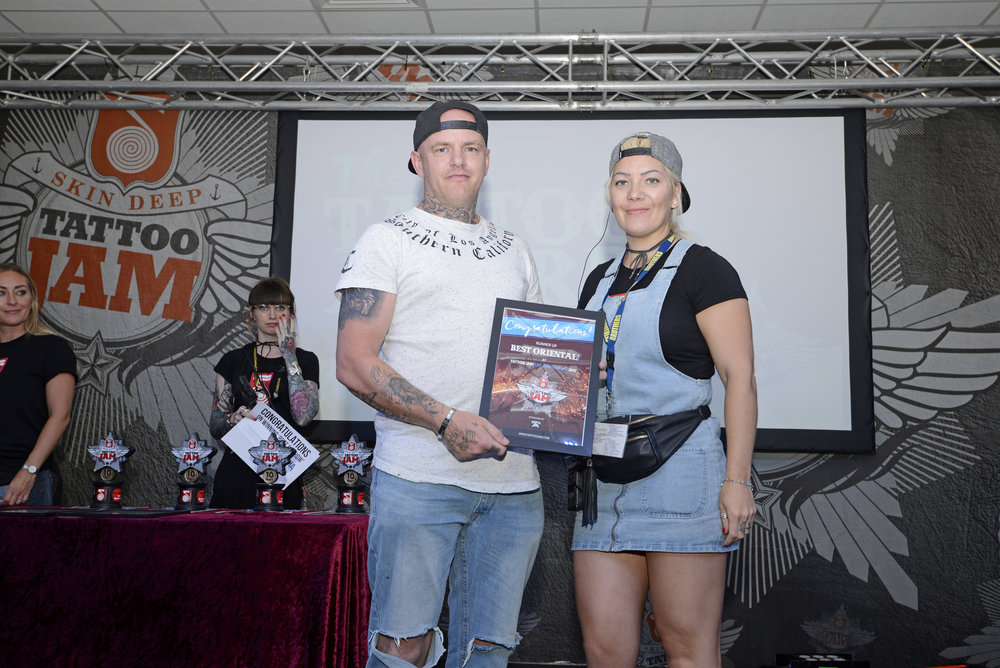 Craig Needham, Runner Up Of Best Oriental