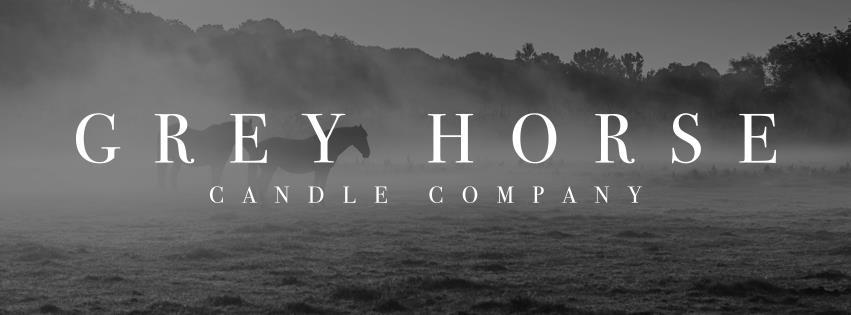 Grey horse candles black white.jpg