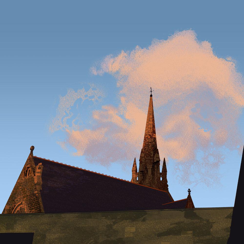 EDINBURGH SKYLINE   Self initiated, unpublished illustration