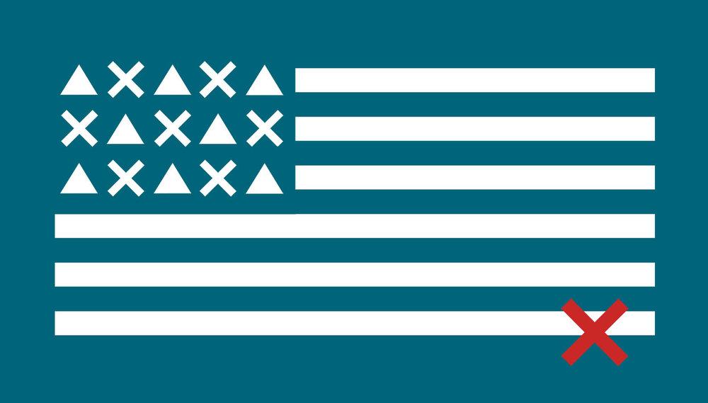 STUDIO THORAL  / Artwork around US FLAG