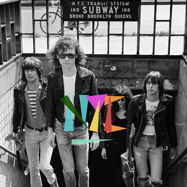 The Ramones walking out of subway, NYC july 18, 1975 - Photo by Bob Gruen @bobgruenstore - custom by @dreamer__paris #theramones #ramones #nyc #bobgruen #blackandwhite #1975 #rock #dreamer #dreamer_paris