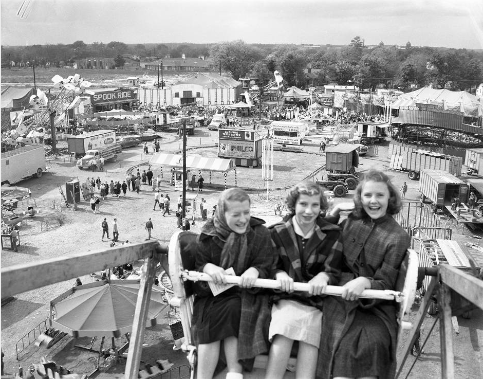 State Fair, midway, October 17, 1955