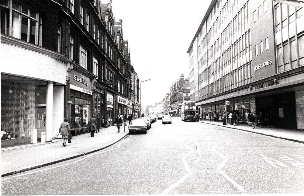 Kings Road - looking west from Sloane Square 1975 KS 4747.JPG