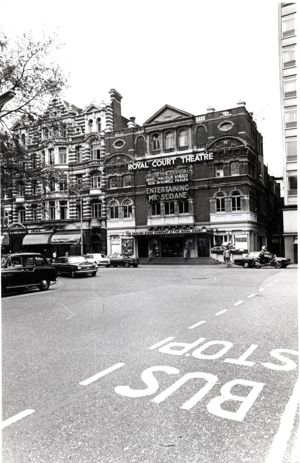 Sloane Square - east side, Royal Court Theatre 1975 KS4752.JPG