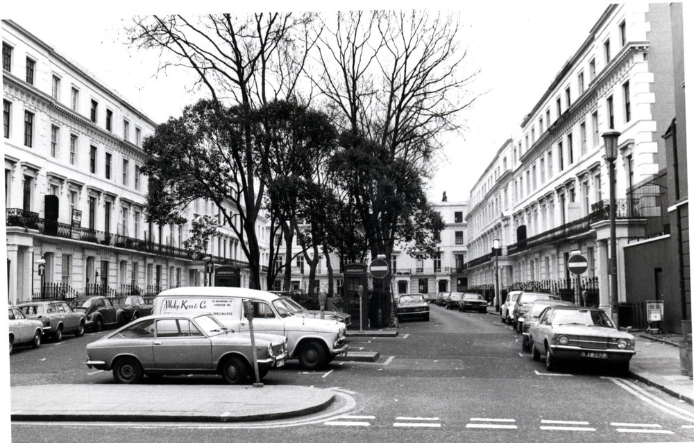 Wellington Square - looking south from Kings Road 1975 KS 4125.JPG